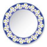 Platte mit Gänseblümchen Stockbilder