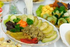 Platte mit Gemüse Lizenzfreies Stockbild