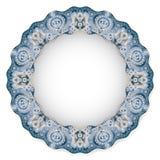 Platte mit Kreisverzierung Stockfotografie