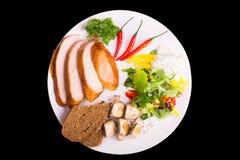 Platte mit Salat Stockfoto