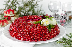 Platte mit Salat Granatsarmband Lizenzfreies Stockfoto