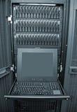 Platte-Reihen-und Server-Bedienungsstation Stockfoto