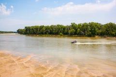 Platte River, west of Omaha, Nebraska Stock Photo