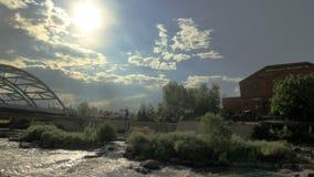 Platte rzeka, park w Denver zbiory wideo