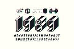 Platte Serif-Massenguß mit Störschubverzerrungseffekt lizenzfreie abbildung