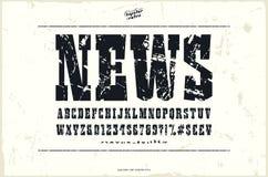 Platte Serifguß in der Westart Stockfotos