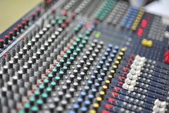 Platte und Knopf des Musikinstrumentes lizenzfreies stockbild
