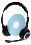 Platte und Kopfhörer Lizenzfreies Stockfoto