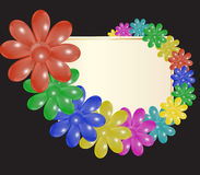 Platte und stilisierte Blumen Lizenzfreie Stockfotografie
