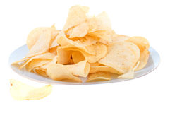 Platte voll der Chips Lizenzfreie Stockbilder