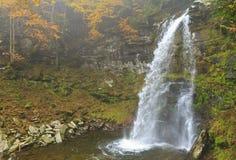 Plattekill Falls in Misty Ravine Royalty Free Stock Photo