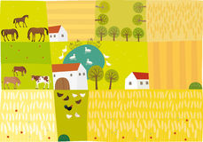 Platteland stock illustratie