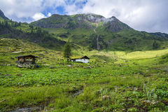 Platteland in Alpen, Oostenrijk royalty-vrije stock afbeeldingen