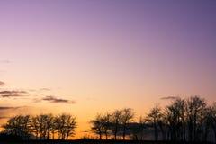 Platteland in de avond Stock Fotografie