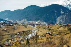 Platteland in de bergen Stock Afbeelding