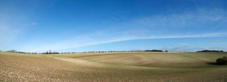 Platteland in de provincie van Wiltshire - Engeland Royalty-vrije Stock Foto's