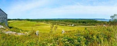 Platteland in Gardner Creek, New Brunswick stock afbeeldingen