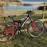 Platteland het biking Stock Foto