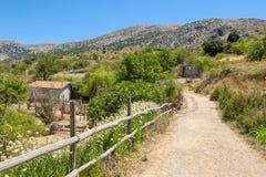 Platteland. Kreta, Griekenland Stock Afbeeldingen