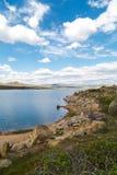 Platteland met meer Stock Fotografie