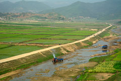 Platteland, Noord-Korea Royalty-vrije Stock Foto
