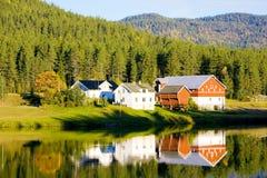 Platteland, Noorwegen Royalty-vrije Stock Afbeelding