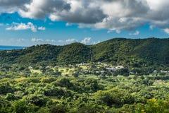 Platteland op het eiland van St Croix Stock Fotografie