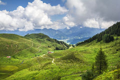 Platteland in Tirol stock afbeelding