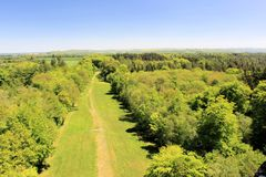 Platteland van Engeland van het Zuidwesten Stock Fotografie