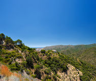 Platteland van Istan-stad in Andalusia, Spanje Royalty-vrije Stock Foto's