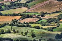 Platteland van Monteleone Di Spoleto Stock Afbeelding