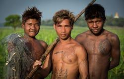 Platteland van Myanmar Stock Fotografie