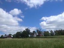 Platteland van zuidelijk Zweden Royalty-vrije Stock Afbeeldingen