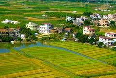Platteland in zuidelijk China Stock Afbeeldingen