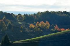 Platteland in Zuidelijk Servië royalty-vrije stock afbeeldingen