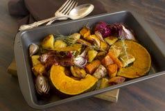 Plattelander gebakken groenten Stock Fotografie