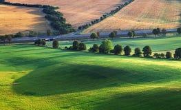 Plattelands landelijk landschap Stock Foto's