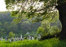Plattelandsbegraafplaats Stock Afbeeldingen