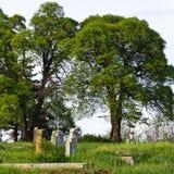 Plattelandsbegraafplaats royalty-vrije stock fotografie