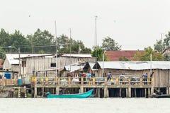 Plattelandshaven op Ecuatoriaanse Kust Stock Foto