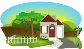 Plattelandshuisje stock illustratie