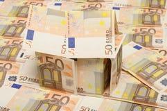 Plattelandshuisje dat met vijftig euro wordt gemaakt Stock Fotografie