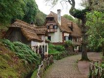 Plattelandshuisje in de Bergen van Madera - Queimadas Royalty-vrije Stock Afbeeldingen