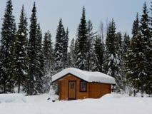 Plattelandshuisje in de sneeuw Stock Afbeeldingen