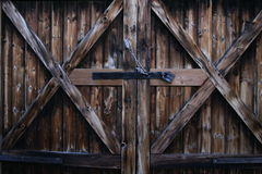 Plattelandshuisje-deur Royalty-vrije Stock Afbeeldingen