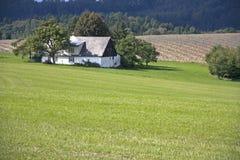 Plattelandshuisje in het Tsjechische platteland Stock Afbeeldingen