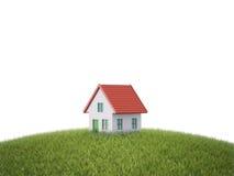 Plattelandshuisje op een heuvel vector illustratie