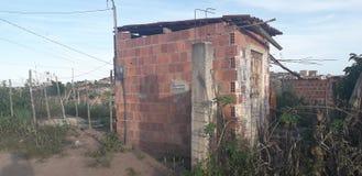 Plattelandshuisje op landelijke plaats, binnenlands van Pernambuco, Brazilië stock afbeeldingen