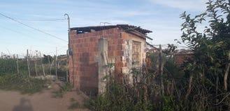 Plattelandshuisje op landelijke plaats, binnenlands van Pernambuco, Brazilië royalty-vrije stock afbeelding