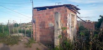 Plattelandshuisje op landelijke plaats, binnenlands van Pernambuco, Brazilië royalty-vrije stock fotografie